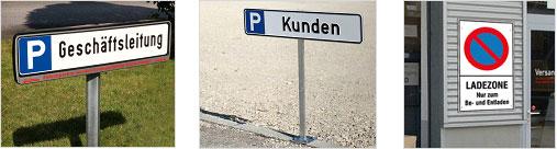 Parkplatzbeschilderung außen
