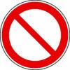 Verbotsschilder verbot allgemein