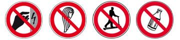 Verbotsschilder aus der Praxis