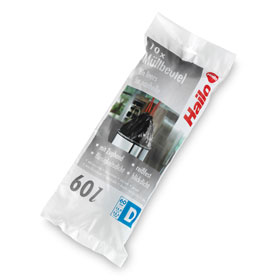hailo m llbeutel fassungsverm gen 60 l mit zugband farbe schwarz. Black Bedroom Furniture Sets. Home Design Ideas