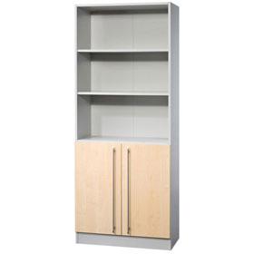 hammerbacher regal mit 5 ordnerh hen 2 t ren unten. Black Bedroom Furniture Sets. Home Design Ideas