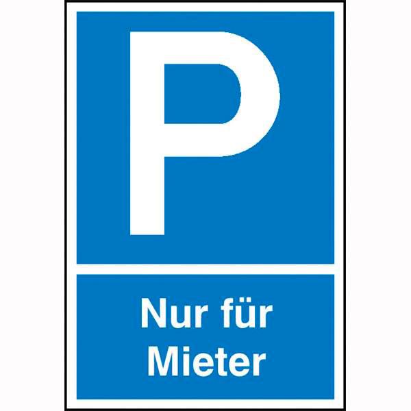 Parkplatzschild Symbol P Text Nur Fr Mieter