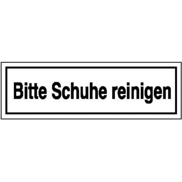 Hinweisschild Betriebskennzeichnung Bitte Schuhe Reinigen