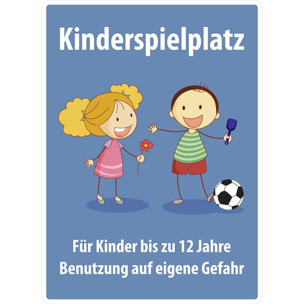 spielplatzschild kinderspielplatz f r kinder bis 12. Black Bedroom Furniture Sets. Home Design Ideas