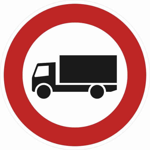verkehrszeichen stvo verbot f r lastkraftwagen ber 3 5t. Black Bedroom Furniture Sets. Home Design Ideas