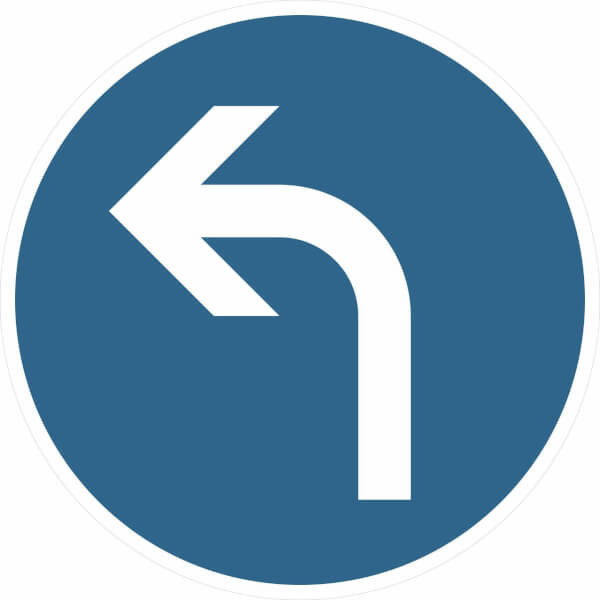 Verkehrszeichen - StVO Vorgeschriebene Fahrtrichtung links ...