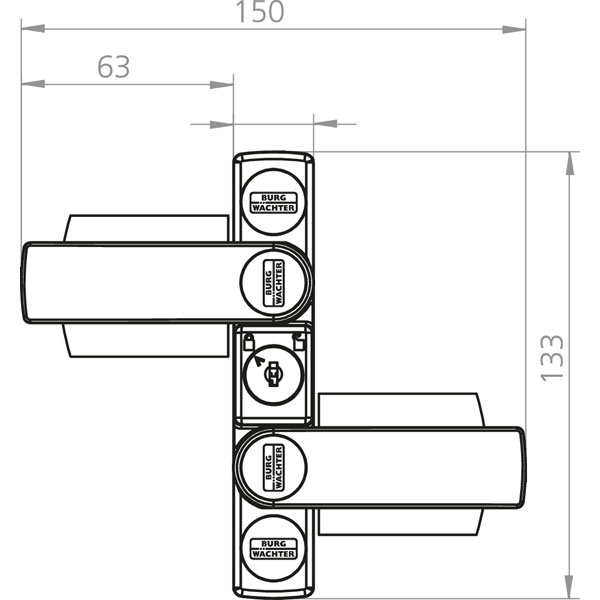 burg w chter winsafe ws 22 mit doppelriegel f r maximalen widerstand bei einbruchsversuchen. Black Bedroom Furniture Sets. Home Design Ideas