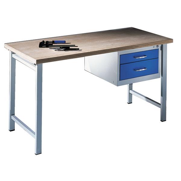 C+P Werkbank mit 2 Schubladen Niveauregulierung Traglast: max. 400 kg