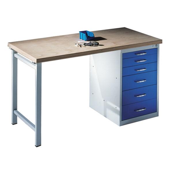 C+P Werkbank mit Stand-Schubladenschrank und 6 Schubladen