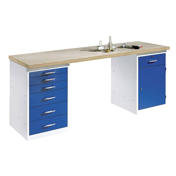 werkb nke werkstatteinrichtung c p werkbank mit stand und schubladenschrank bei suk. Black Bedroom Furniture Sets. Home Design Ideas