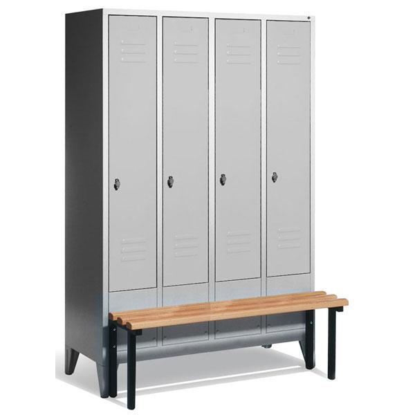 c p garderobenschrank s 2000 classic mit fl gelt ren und vorgebauter sitzbank. Black Bedroom Furniture Sets. Home Design Ideas