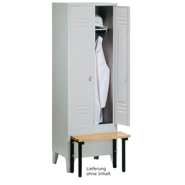c p garderobenschrank s 2000 classic mit fl gelt ren und drehriegelverschluss bei suk. Black Bedroom Furniture Sets. Home Design Ideas