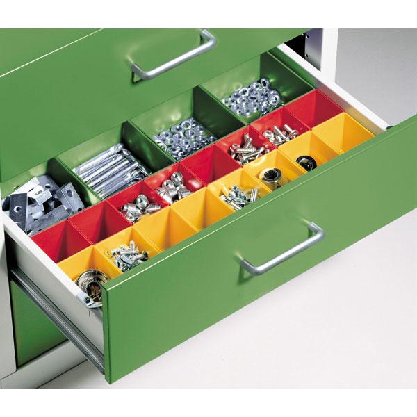 c p schubladeneinteilung mit kunststoffk sten f r werkbankschubladen. Black Bedroom Furniture Sets. Home Design Ideas