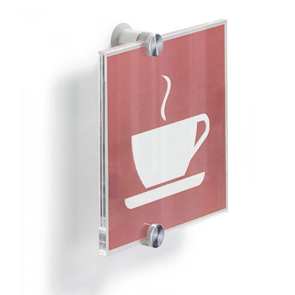 crystal sign t rschilder durable t rschild hochwertiges acrylglas abstandhalter d 1 1 cm. Black Bedroom Furniture Sets. Home Design Ideas