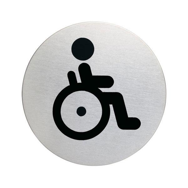Piktogramme rund Symbol WC Behinderte bei SUK