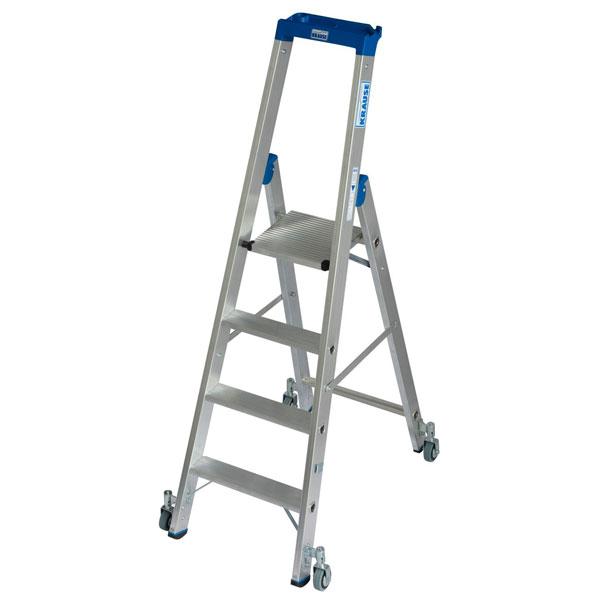 leitern stufen stehleitern krause stufen stehleiter fahrbar alu arbeitsh he 2 95 m. Black Bedroom Furniture Sets. Home Design Ideas