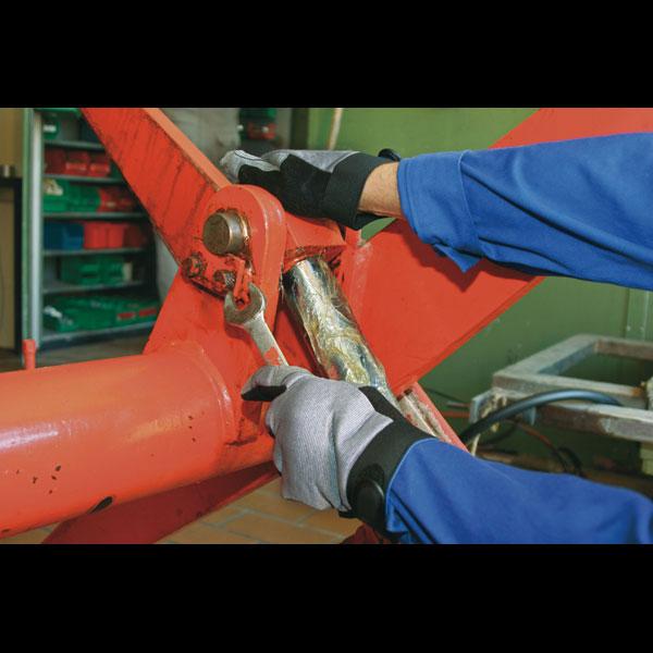 10 grau//schw. KCL Handschuh-Paar RewoMech 641 Gr