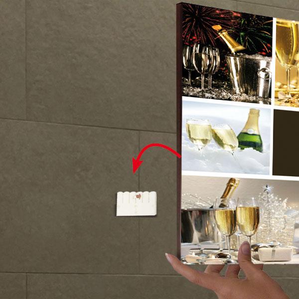 wandhalter fisso pixfix safe f r gro e bilder und poster. Black Bedroom Furniture Sets. Home Design Ideas