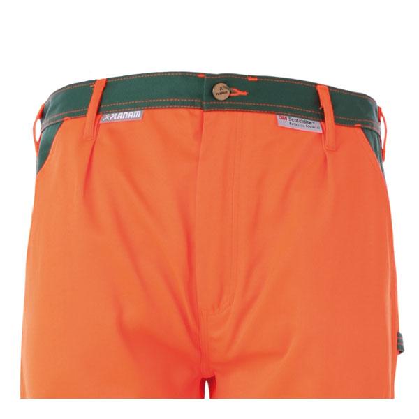 warnschutzkleidung warnschutzhosen planam warnschutz bundhose orange gr n. Black Bedroom Furniture Sets. Home Design Ideas
