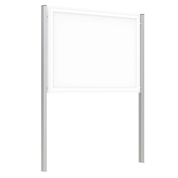 wsm schauk sten st nder rechteckrohr material aluminium zum einbetonieren. Black Bedroom Furniture Sets. Home Design Ideas