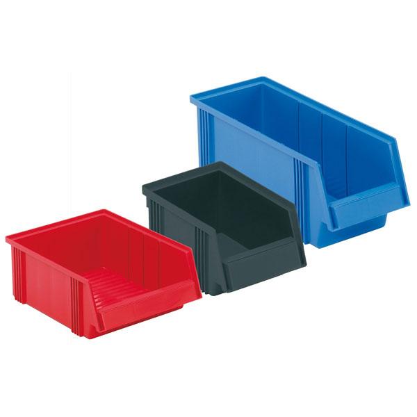sichtlagerkasten treston aus polypropylen farbe grau rot. Black Bedroom Furniture Sets. Home Design Ideas